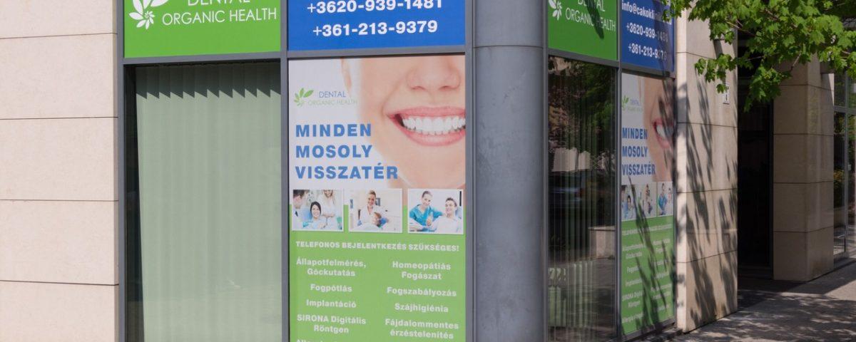Cakó Klinika kültéri homlokzat dekor - tridomp.hu